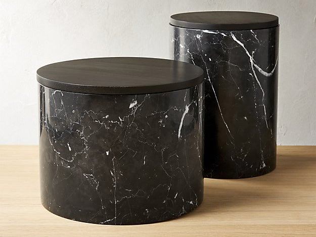 Black Marble Canisters