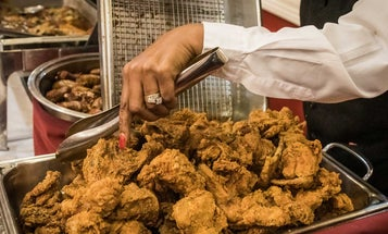 Lunch At This Iconic New Orleans Restaurant Includes a Fried Chicken Avalanche