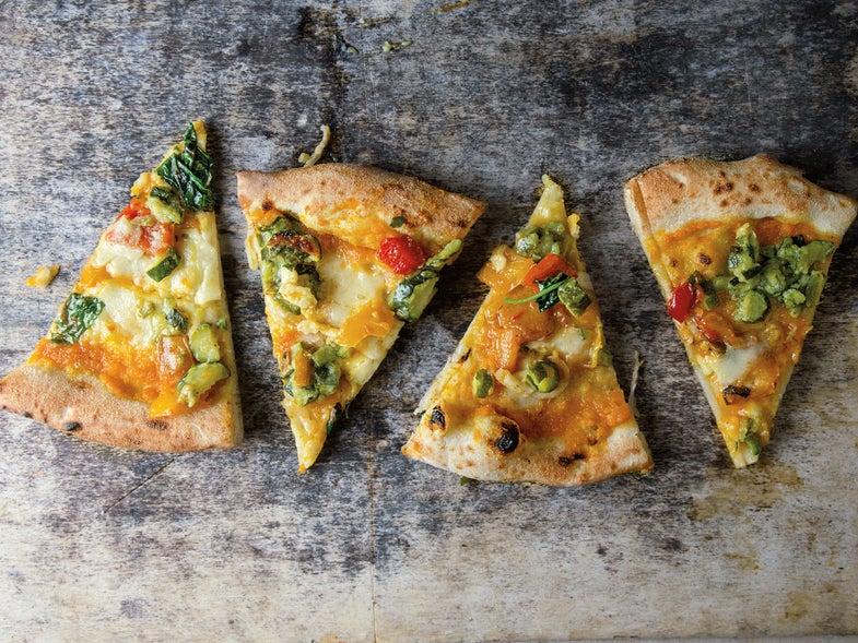 Butternut Squash and Smoked Mozzarella Pizza