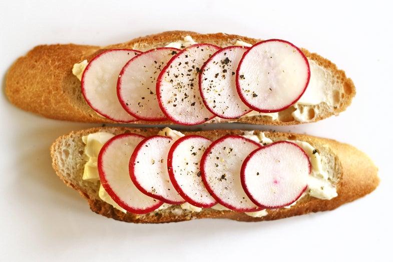 Radish and Butter Sandwich