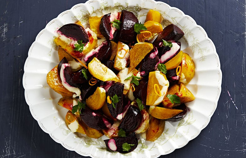 Roasted Beets with Orange and Crème Fraîche