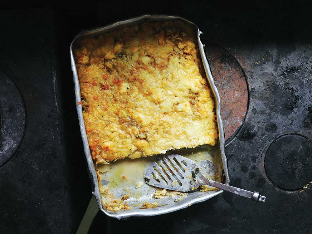 Layered Pumpkin and Cheese Gratin Squares (Boureki)
