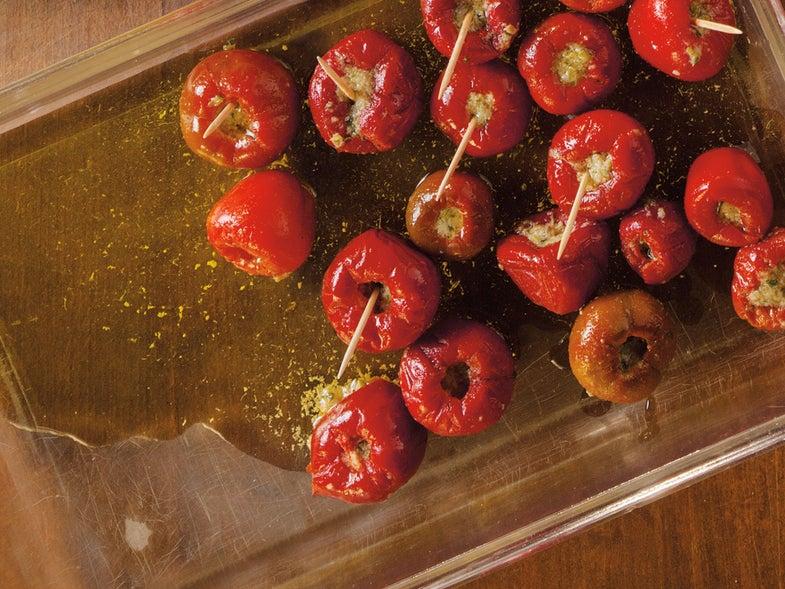 Stuffed Cherry Peppers (Peperoni con Acciughe)