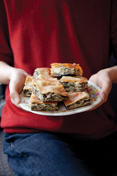 Fennel and Herb Phyllo Pastries (Hortopita)