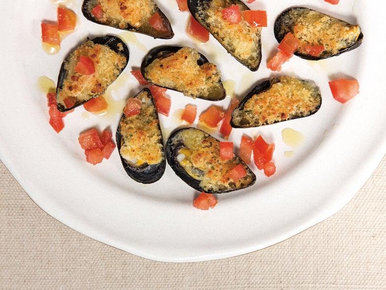 Stuffed Mussels (Cozze al Pomodoro)