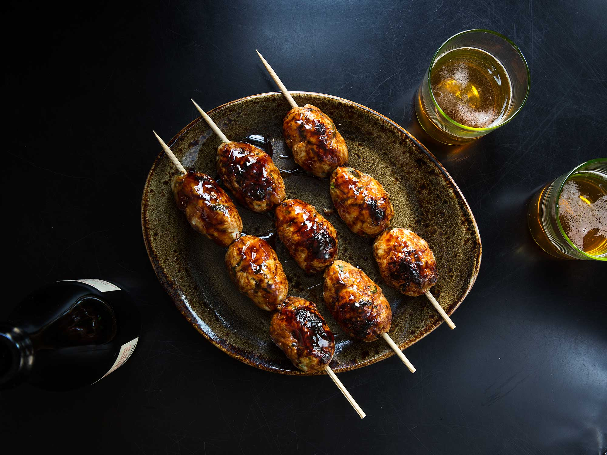 Japanese Grilled Chicken Meatballs (Tsukune)