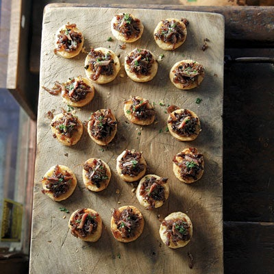 Onion and Anchovy Tarts (Pissaladières)