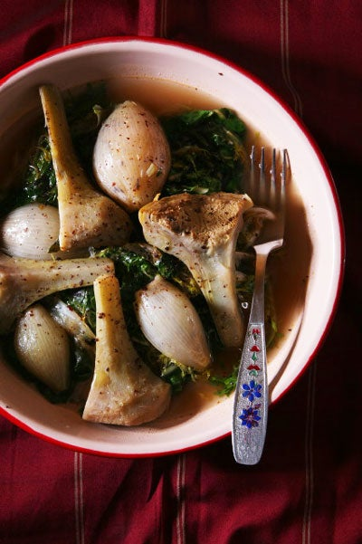 Greens and Artichokes Stew