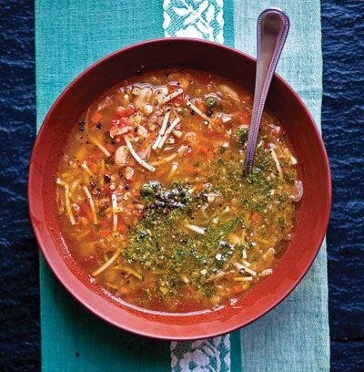 Soupe au Pistou (Provençal Vegetable Soup with Pistou)