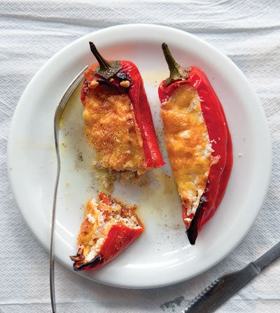 Peppers Stuffed with Feta (Piperies Gemistes me Feta)