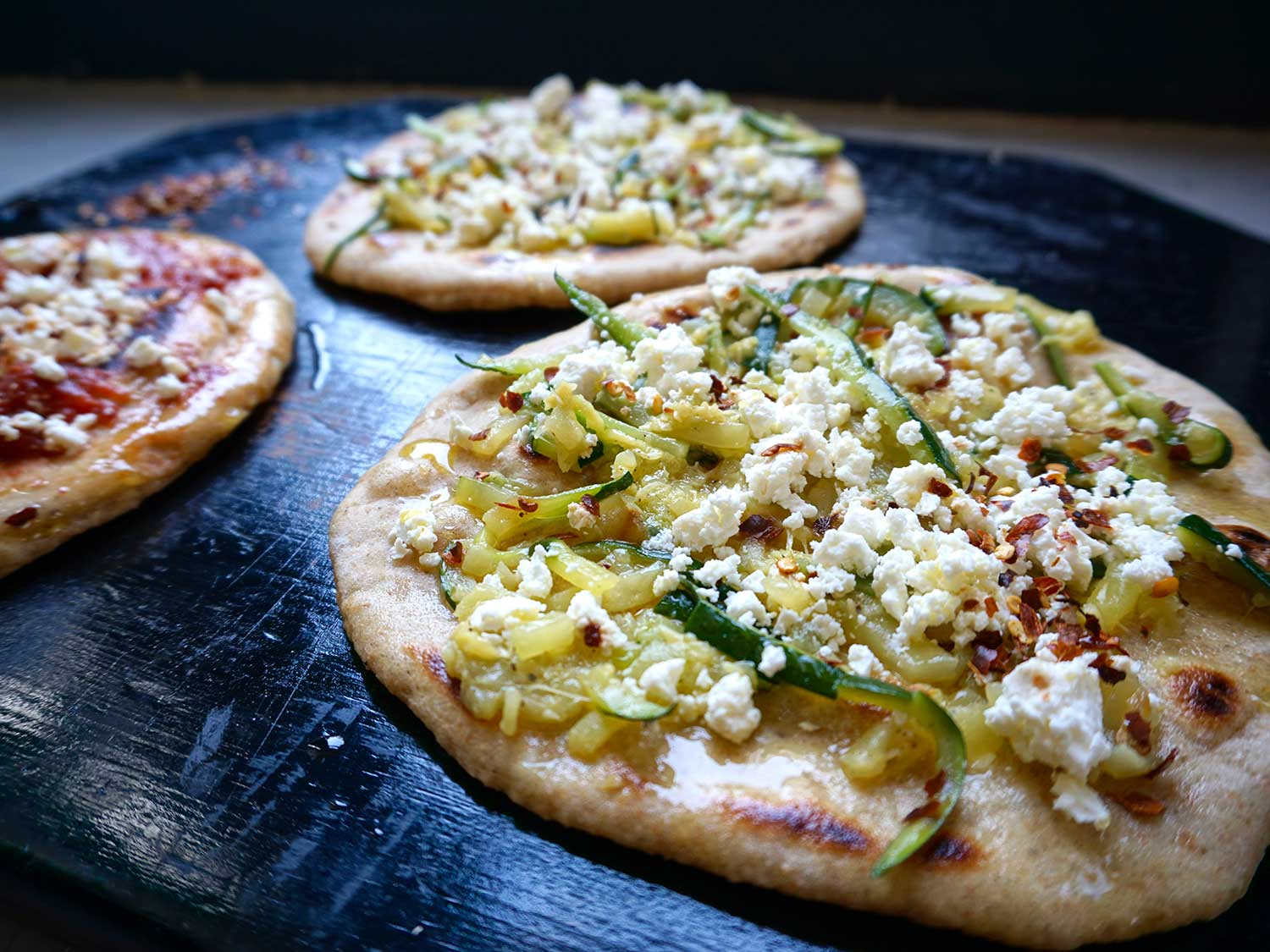 Flatbreads with Two Toppings (Laganes)