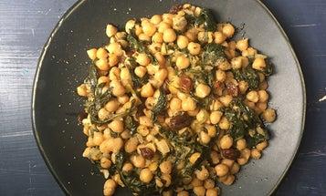 Cretan Bean Stew with Spinach