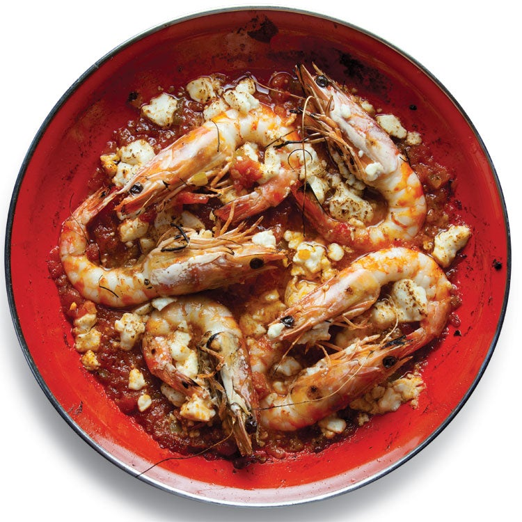 Garides Saganaki (Shrimp with Tomatoes and Feta)