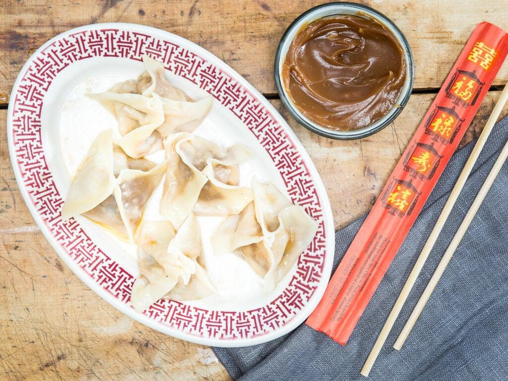 Crystal Palace Hunan Pork and Peanut Dumplings