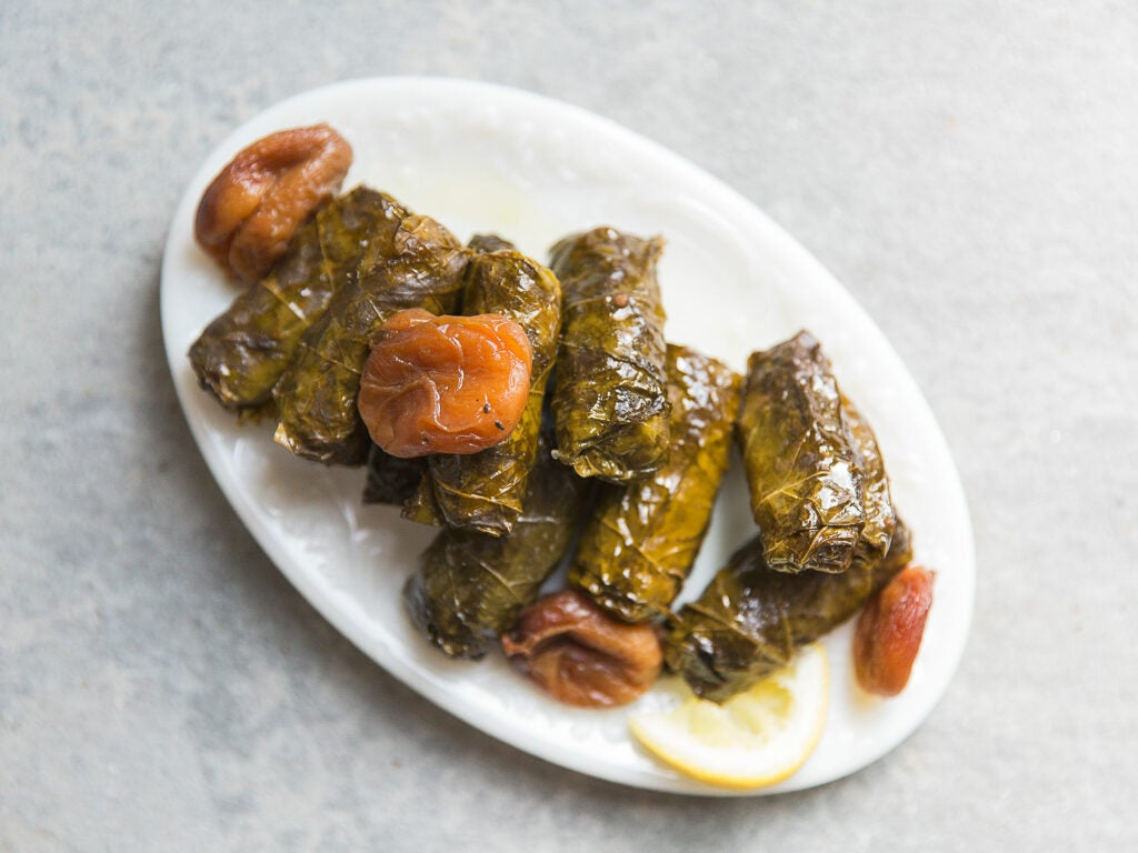 Beef Dolmas with Apricots and Tamarind