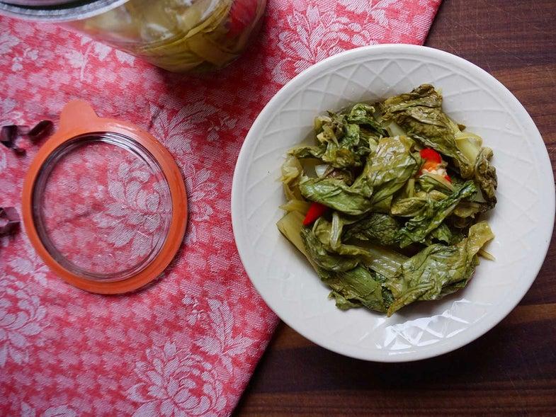 Pickled Mustard Greens