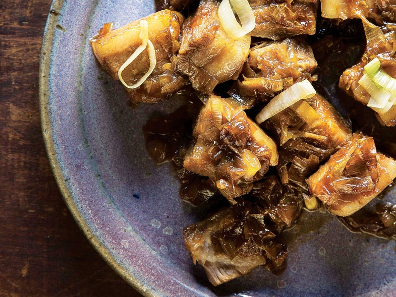 Braised Pork Belly with Leeks and Ginger