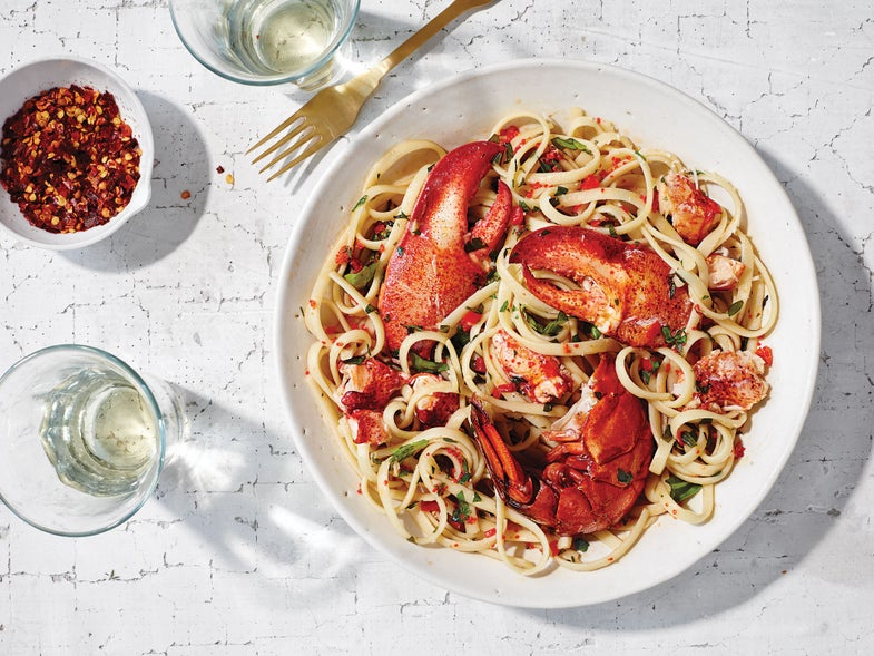 Lobster Linguine with Chiles