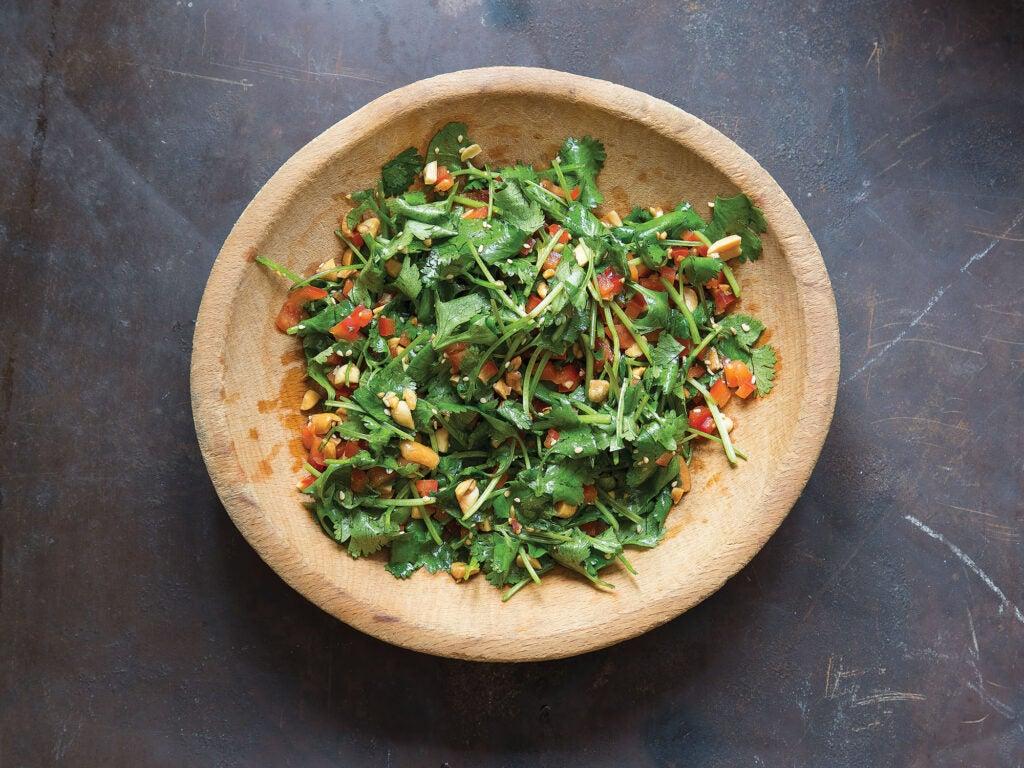 cilantro peanut salad