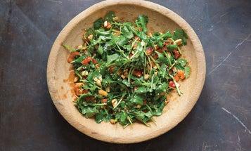 Chinese Cilantro and Peanut Salad (Huāshēngmĭ bàn xiāngcài)