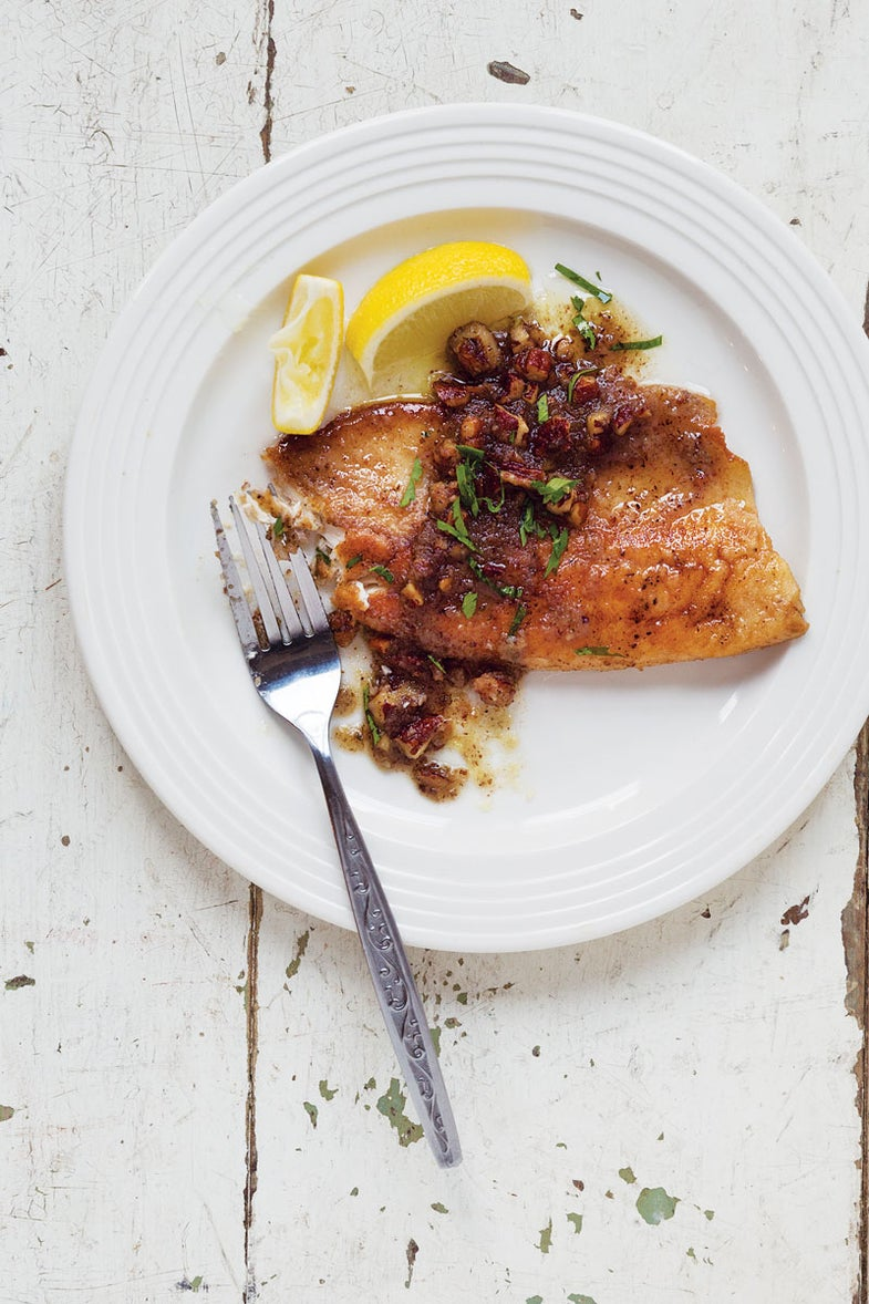 Pan-Seared Trout with Pecan Brown Butter Sauce
