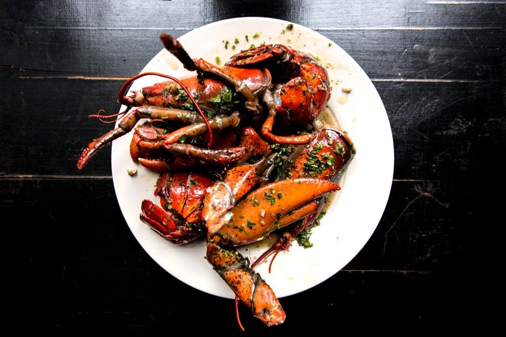 Bourbon-Roasted Lobster