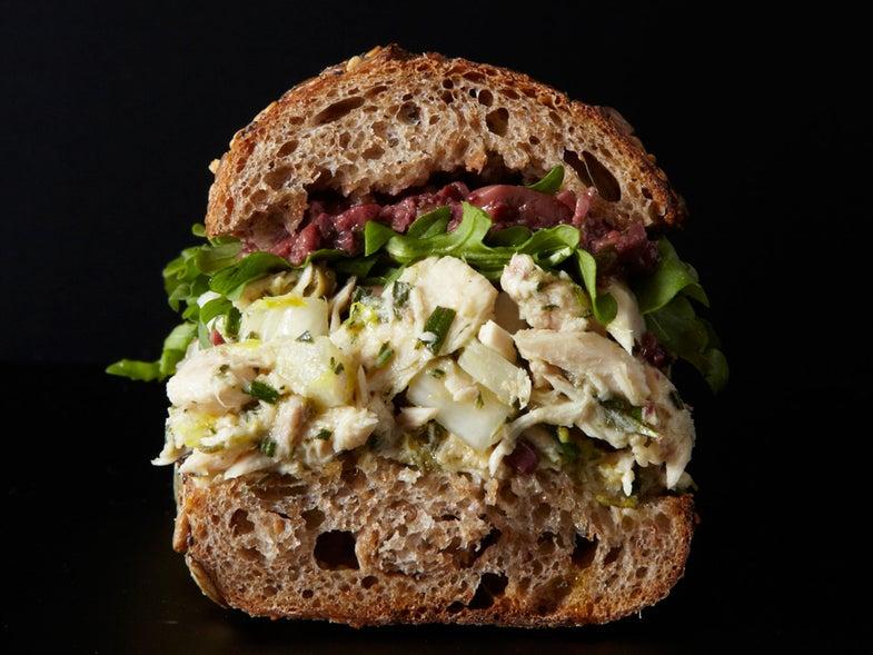 Lemon-Caper Tuna Sandwich