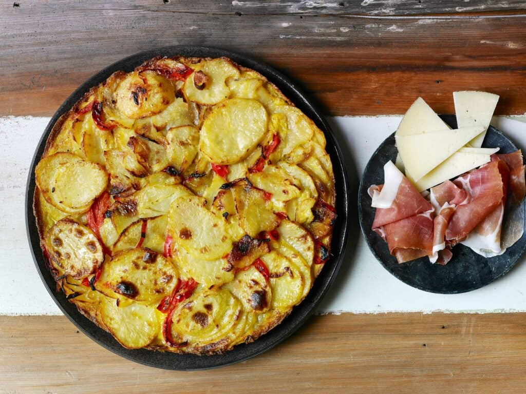 Tortilla with Ham and Cheese