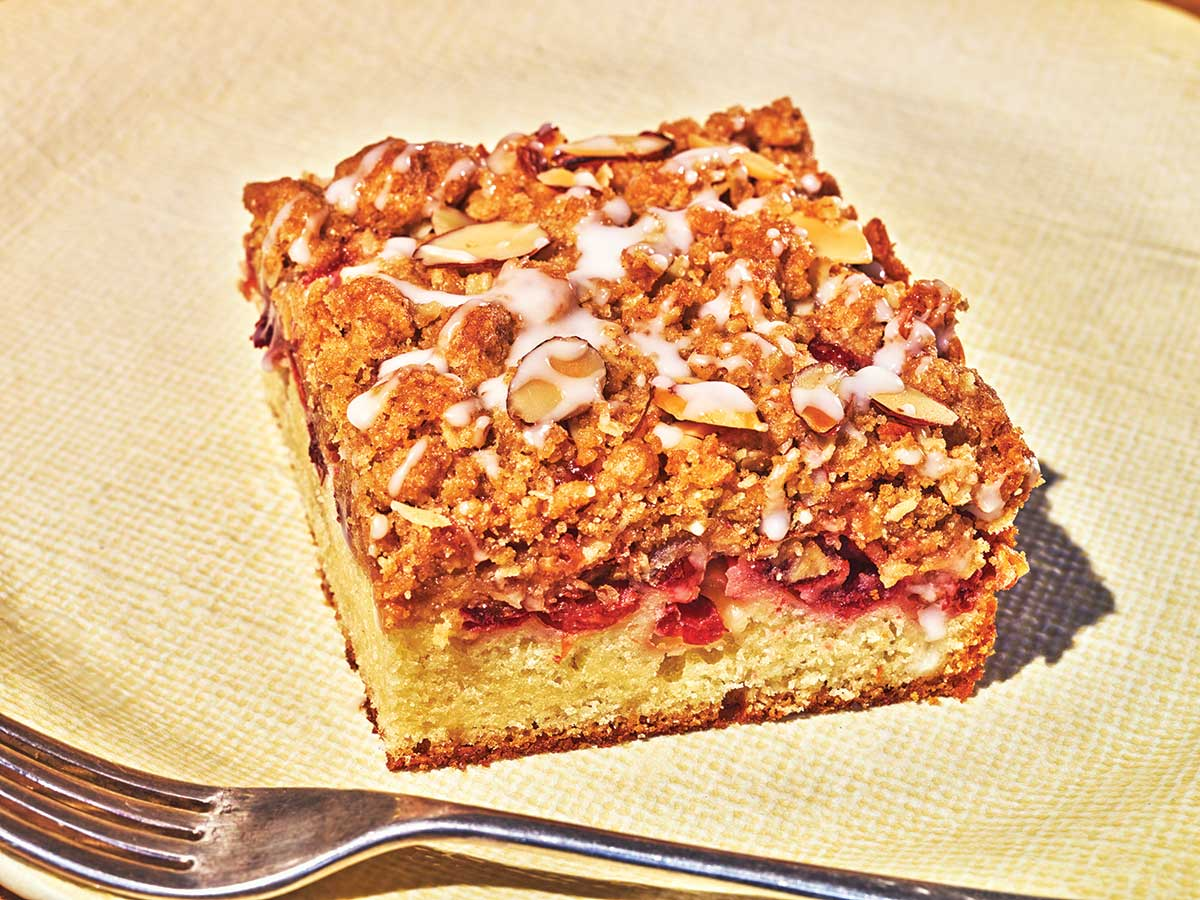 Cranberry Crumb Cake with Almonds and Oats