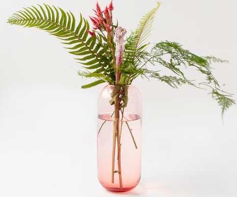 Transparent Pink Vase
