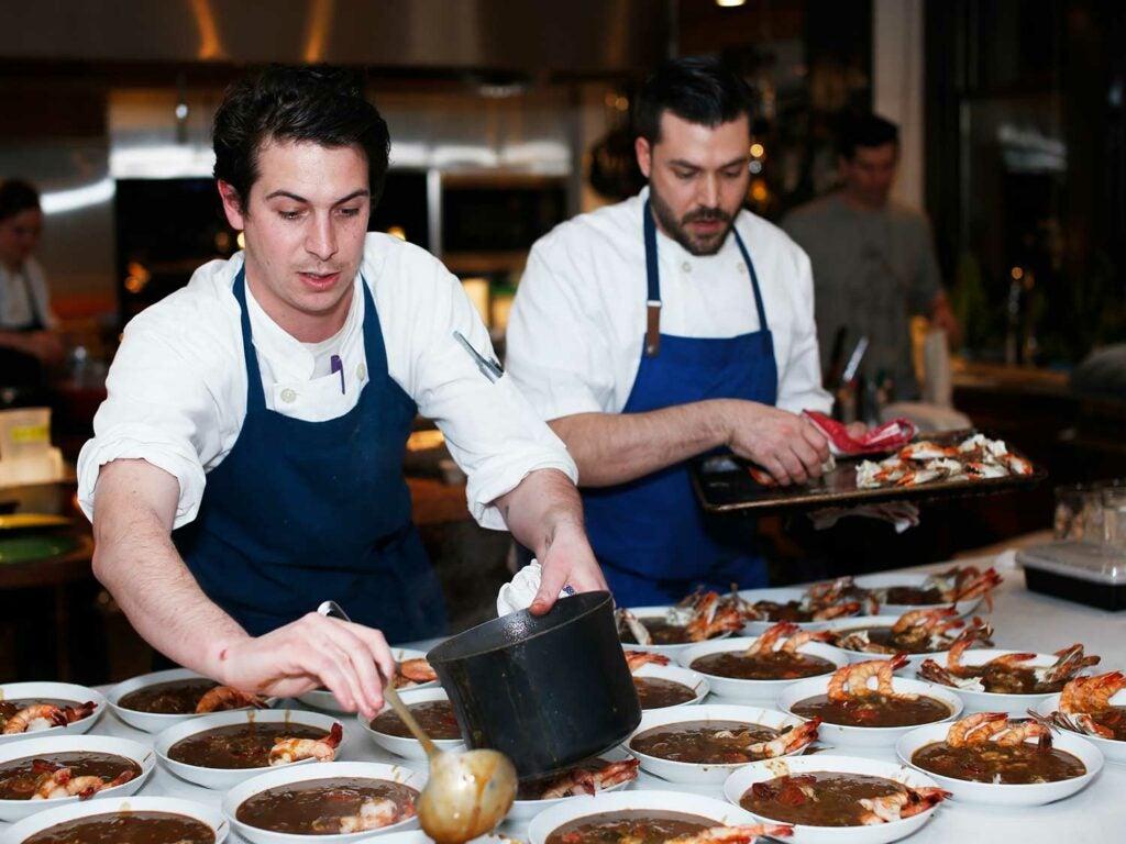 Clark and Chef de Cuisine Jordan Anderson