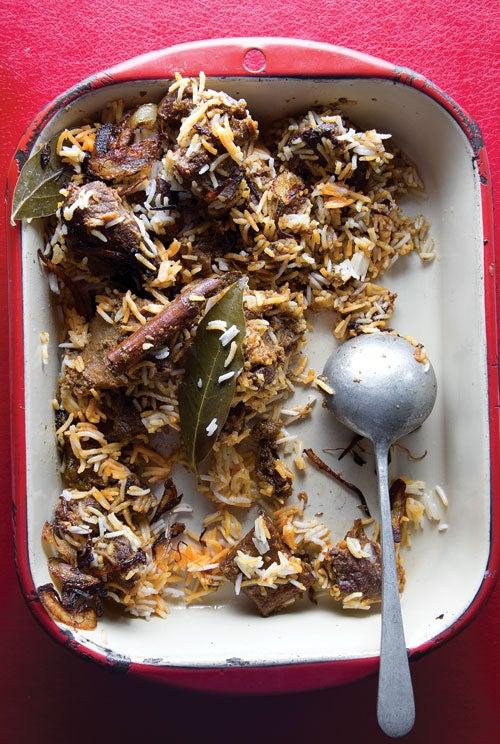 Spiced Goat and Rice Pilaf (Sindhi Biryani)