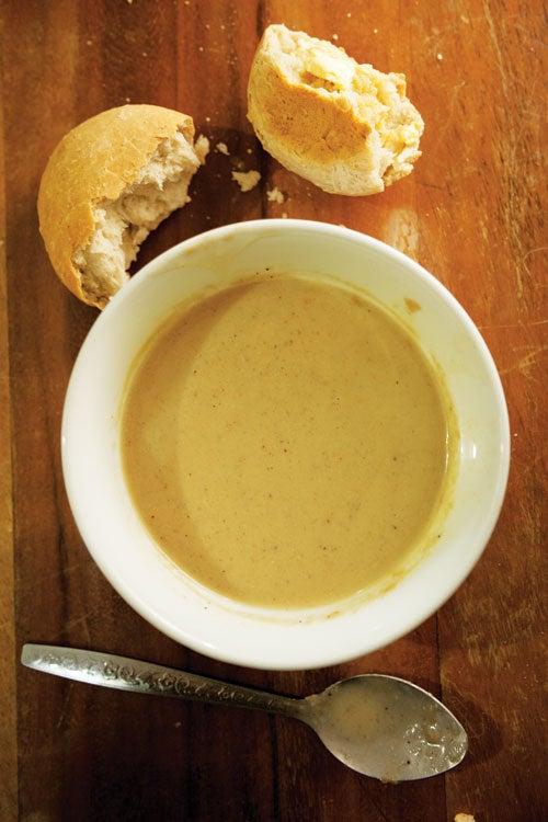 Coconut Bread with Cassava Porridge
