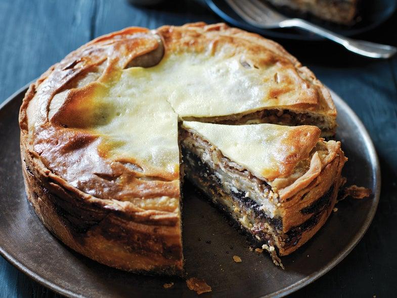 Layered Strudel Cake (Prekmurska Gibanica)