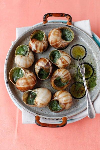 Snails in Garlic-Herb Butter
