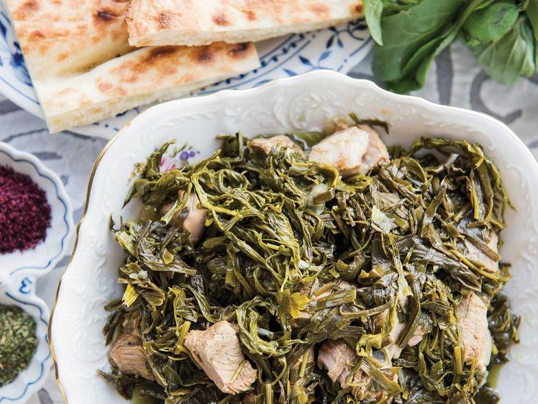 Herbed Lamb Stew (Sabzi Govurma)