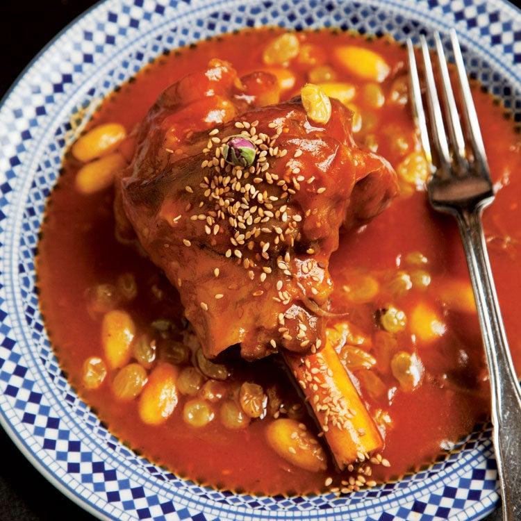 Honey-Braised Lamb Shanks (Mrouzia)