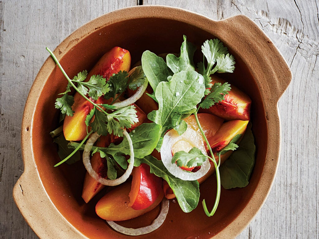 Peach and Plum Salad
