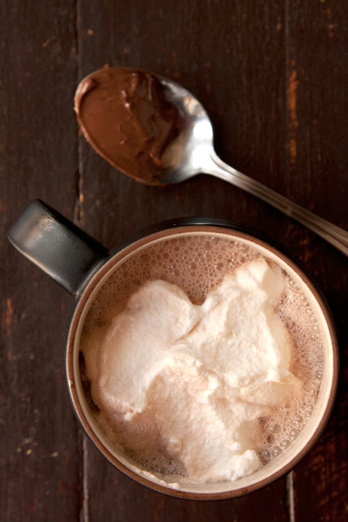 Nutella Hot Chocolate with Hazelnut Liqueur