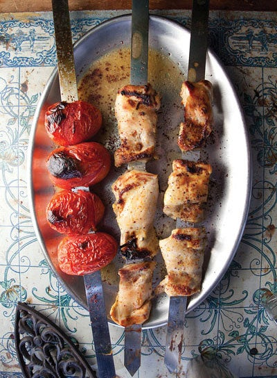 Spiced Chicken and Tomato Kebabs (Jujeh Kabab)