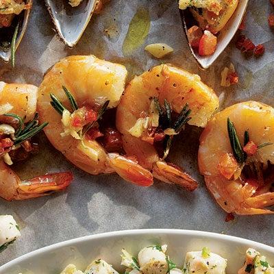 Shrimp with Pancetta and Rosemary (Gamberi al Rosmarino)