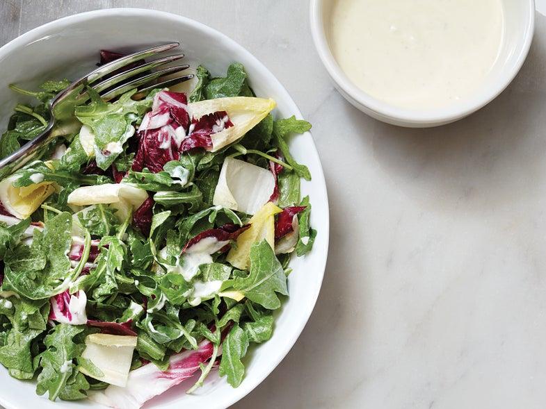 Homemade Crème Fraîche and Preserved Lemon Salad Dressing