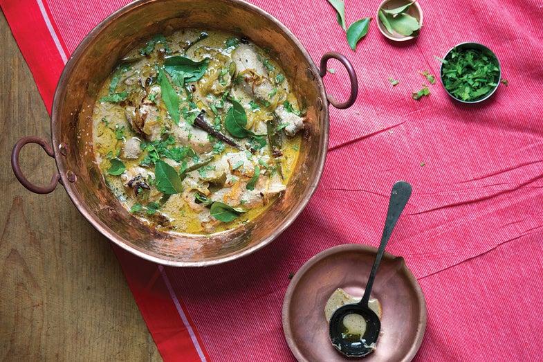 Telangana-Style Curried Chicken Stew