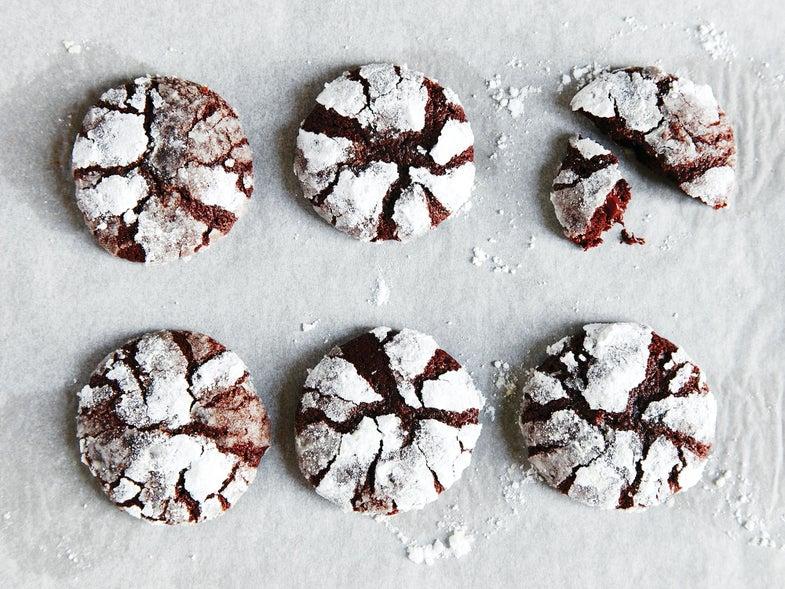 Orange and Ginger Brownie Cookies