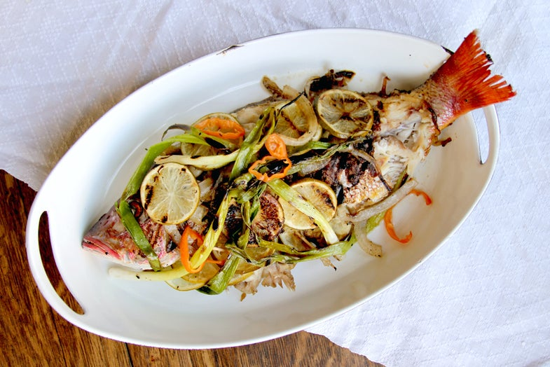 Grilled Snapper with Habanero and Scallions