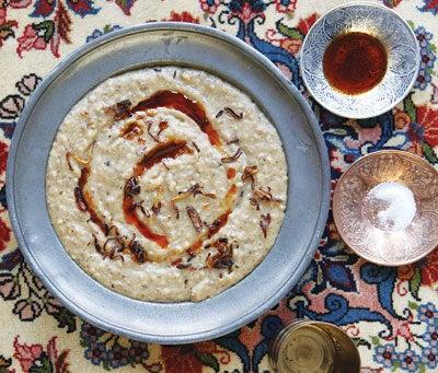 H'riss (Spiced Chicken and Wheat Porridge)