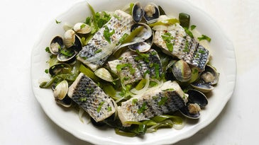 Basque Recipes Fish with Green Peppers and Clams