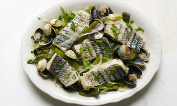 Basque-Style Fish With Green Peppers and Manila Clams