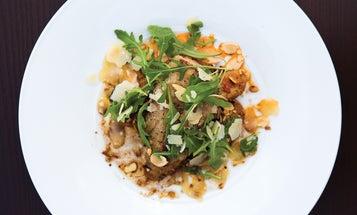 Cod with Potatoes and Sundried Tomato Pesto
