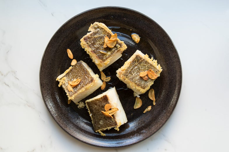 Salt Cod with Garlic Sauce